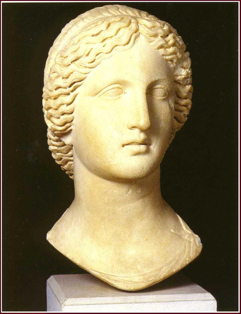 Artemis Statue Head Marble Head of Statue of
